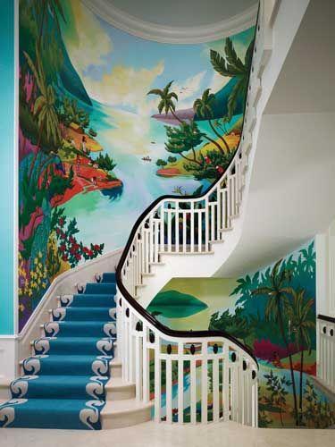 vẽ Trang tường cầu thang 3d đẹp.jpg