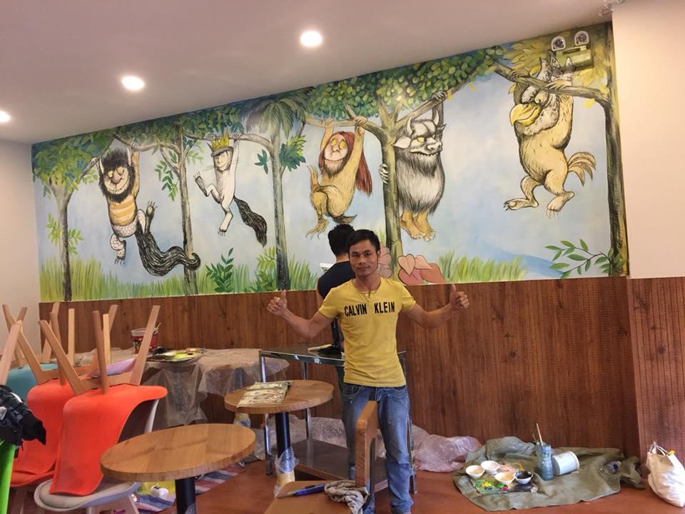 vẽ tranh tường giá rẻ nhất sg