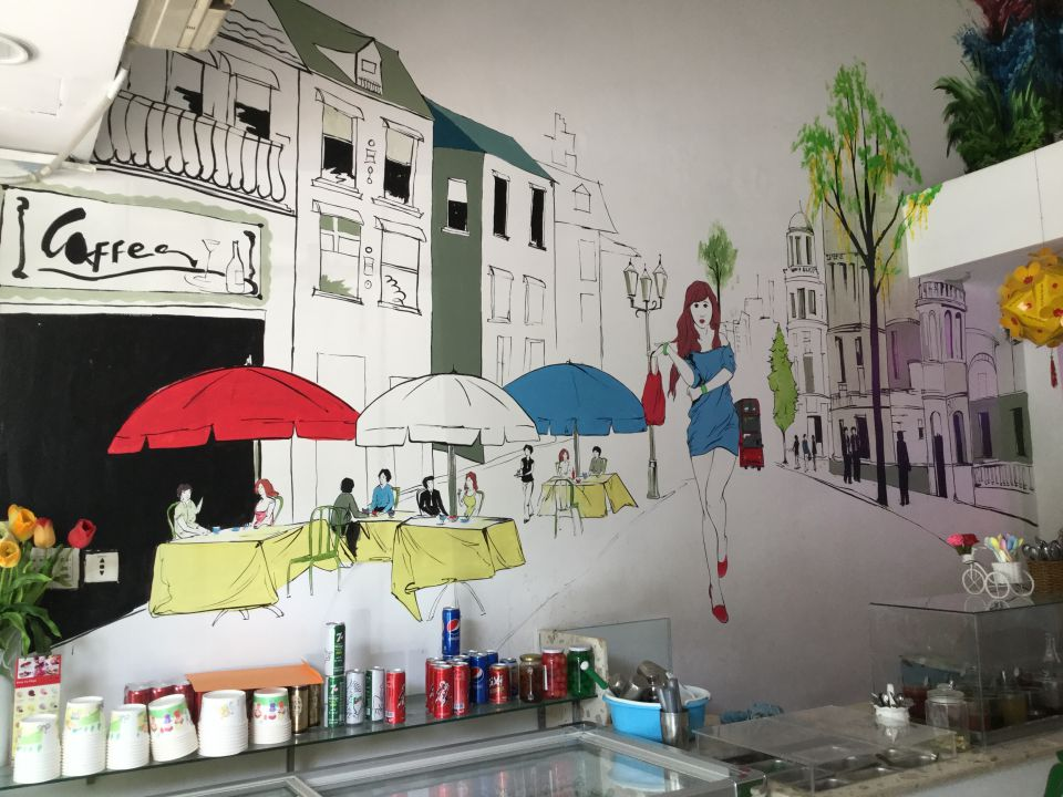 vẽ tranh tường | tranh tường sài gòn với mẫu tranh tường đẹp là giải pháp tốt nhất cho thương hiệu