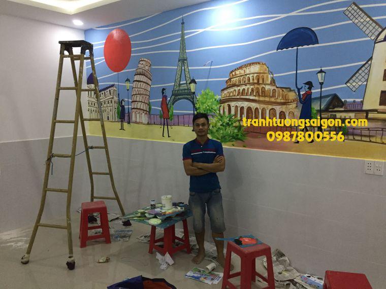 """vẽ tranh tường tại Q9 """"nhận vẽ tranh tường khu vực Q9 và thủ đức"""